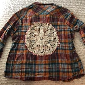 Tops - Flannel with Handsewn Embellishment